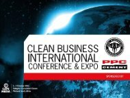 click here for the presentation - Clean Business International