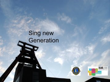Sing new Generation - förderturm - ideen für essener kinder