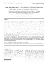 On the Simulation of Shallow Water Tides in the Vicinity of the ...