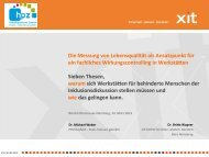Die xit GmbH - Werkstätten:Messe