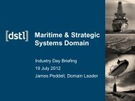 Maritime & Strategic Systems Domain - Dstl