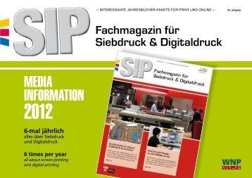 Fachmagazin für Siebdruck & Digitaldruck - WNP Verlag