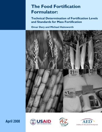 The Food Fortification Formulator: Technical - A2Zproject.org