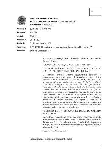 Programa Gerador de Documentos - Conselhos de Contribuintes
