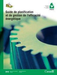 Guide de planification et de gestion de l'efficacité énergétique