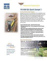 NEW YSI 600 QS (Quick Sample™)