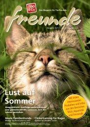 Freunde Magazin Sommer 2013 S. 01 - Alles für Tiere