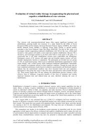 Evaluation of virtual reality therapy in augmenting the physical and ...