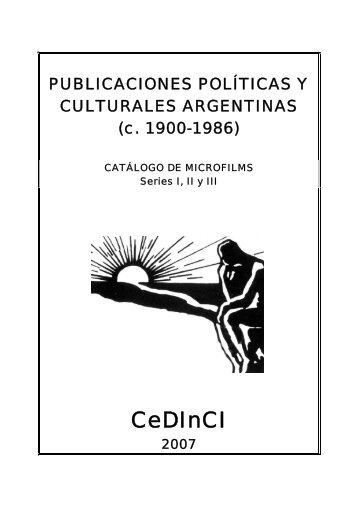 Catálogo de publicaciones políticas y culturales argentinas - CeDInCI