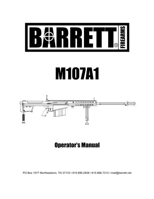 Barrett M107A1 Manual