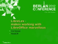 LibreLex - makes working with LibreOffice marvellous