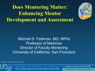 Mentor as a - Academic Affairs - University of California, San Francisco