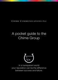 A pocket guide to the Chime Group - Chime Communications