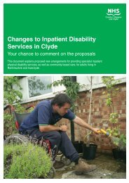 Changes to Inpatient Disability Services in Clyde - NHS Greater ...
