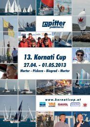 Download des Folder als PDF ca. 2,8 Mb - Kornati Cup