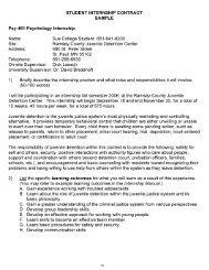STUDENT INTERNSHIP CONTRACT SAMPLE Psy-461 Psychology ...