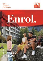 2013 Guide to Enrolment - University of Canterbury