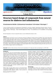 Structure based design of compounds from natural ... - Bioinformation