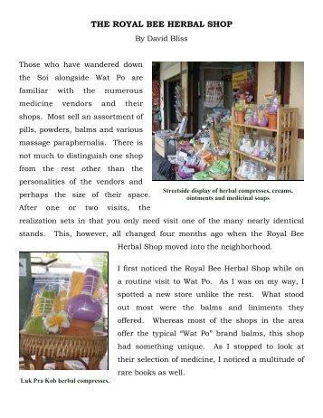 The Royal Bee Herbal Shop - Thai Healing Alliance