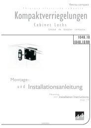 Kompaktverriegelung 1049 und 1049RR - Ikon