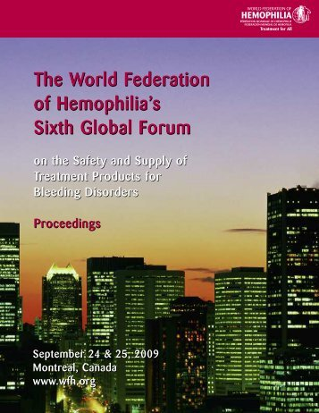 WFH Global Forum 2009 proceedings - Home - World Federation of ...
