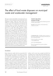 The effect of food waste disposers on municipal waste and ...