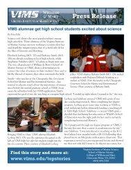 PDF: Printable Press Release - Virginia Institute of Marine Science