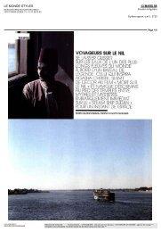 VOYAGEURS SUR LE NIL - Voyageurs du Monde