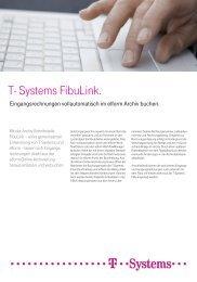Produktflyer FIBU Link - T - Systems International Gmbh