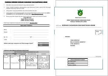 A3 Borang Cadangan & Bantahan Awam_RKK KUALA ... - ePublisiti
