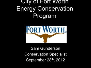 City of Fort Worth Energy Conservation Program