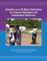 Checklist for Program Managers and Independent Observers