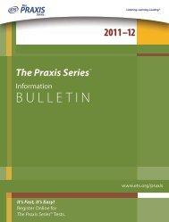 Praxis Series Information Bulletin - University of Wisconsin-Stout
