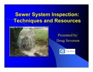 Sewer System Inspection: Techniques And Resources