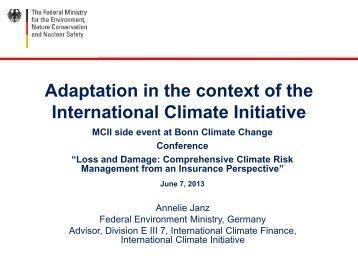 Folie 1 - Munich Climate-Insurance Initiative