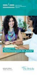 """Semesterprogramm der """"Brücke"""""""