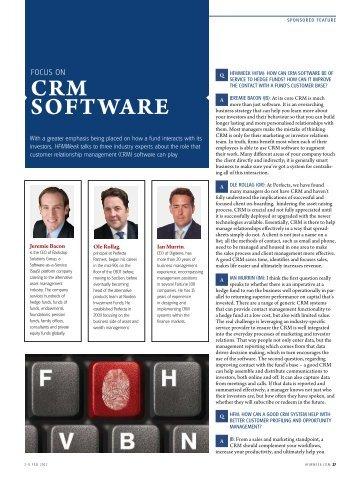 focus CRM softwaRe - HFMWeek