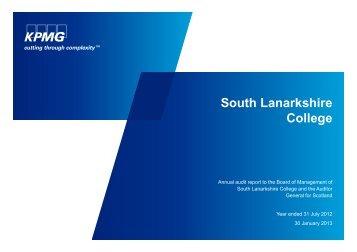 South Lanarkshire College (PDF | 243 KB) - Audit Scotland