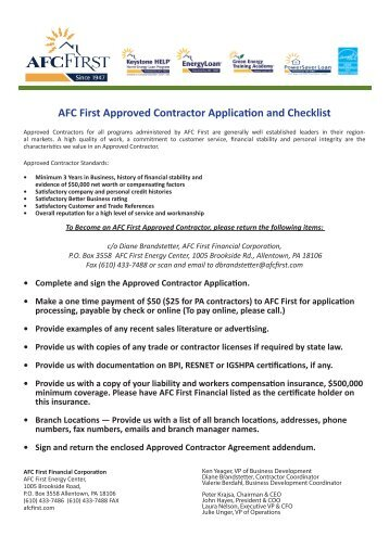 to apply to be an Approved Contractor. - HDF: Housing ...