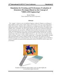 Simulation for Forming and Performance Evaluation of ... - DYNAlook