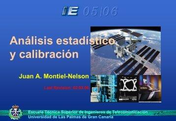 Análisis estadístico y calibración - Universidad de Las Palmas de ...