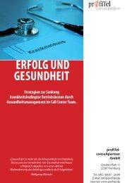 Broschüre Gesundheitsmanagement - profiTel consultpartner GmbH