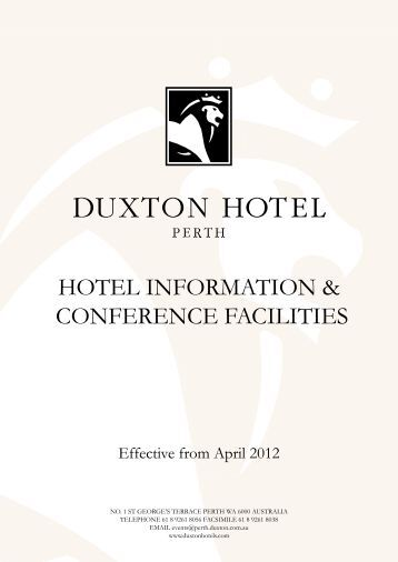 HOTEL INFORMATION & CONFERENCE FACILITIES