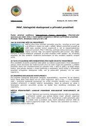 Měď, biologická dostupnost a přírodní prostředí - MedPortal
