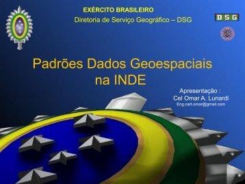 Padrões Dados Geoespaciais na INDE