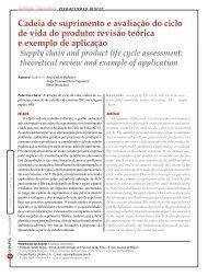 Cadeia de suprimento e avaliação do ciclo de ... - Revista O Papel