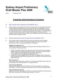 Sydney Airport Preliminary Draft Master Plan 2009
