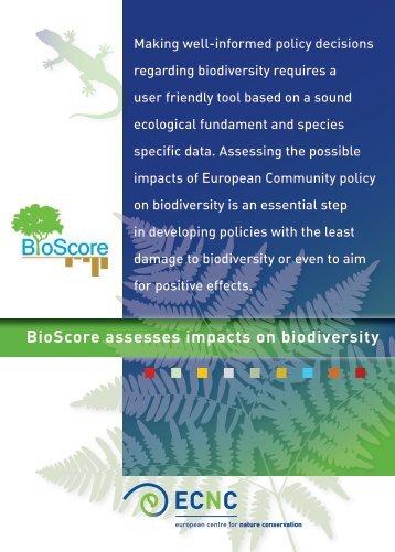 Bioscore final brochure - ECNC