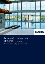 Automatic sliding door SLX/PSX system - ASC Info