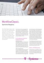 Produktflyer WorkflowClassic - T - Systems International Gmbh